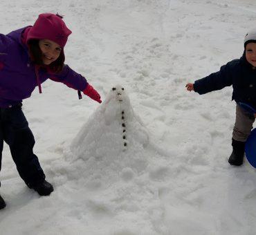 Brincadeiras na neve em Bariloche